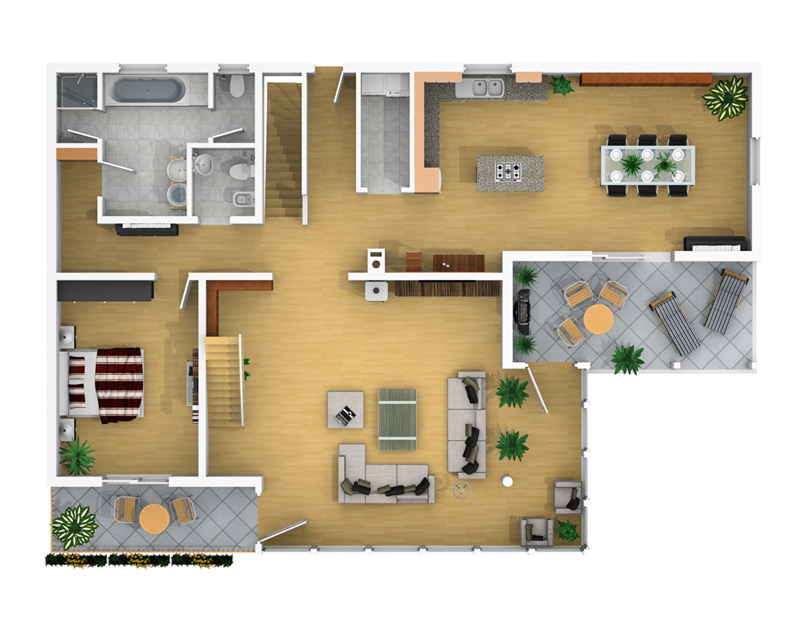 3D Floor Plan Design From Your Templates In Standard Or Individual Design